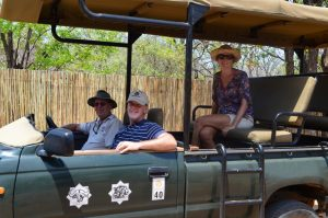 Game viewing with Toms father at Ingwelala