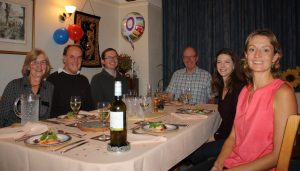 The family dinner - Richard hits the big 70 and still going strong